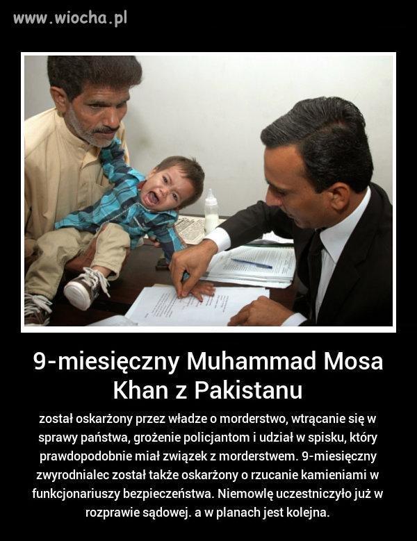 Prokuratura w Pakistanie oskarżyła chłopca