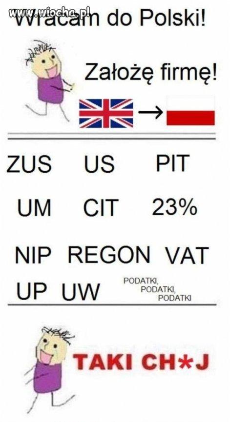 Podatki wole płacić za granicą  - Taki CH*J Polsko