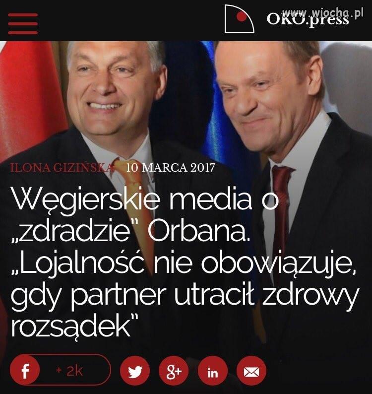 Orban poparł Polskę