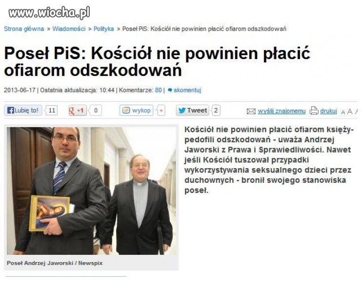 Andrzej Jaworski obrońca pedofilów.