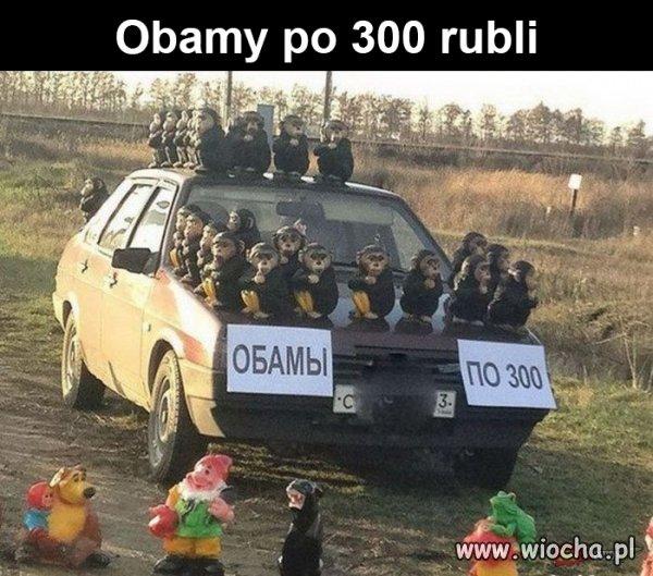 Obamy po 300 rubli