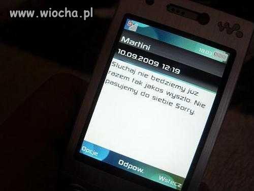 Zrywanie znajomości przez sms