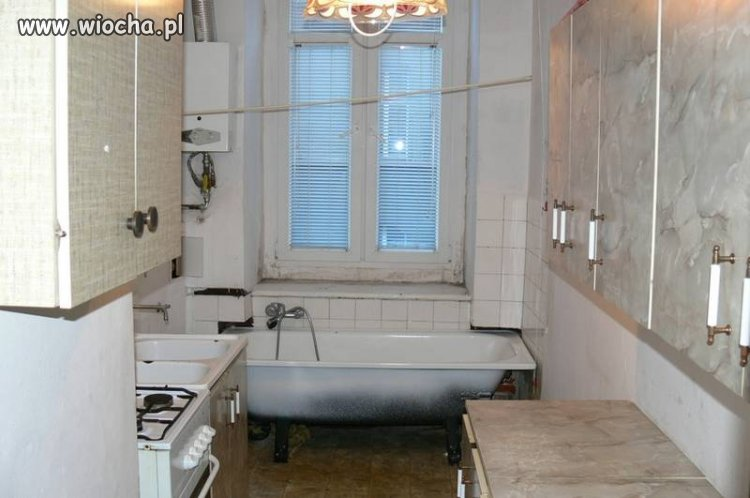 Łazienka z aneksem kuchennym!