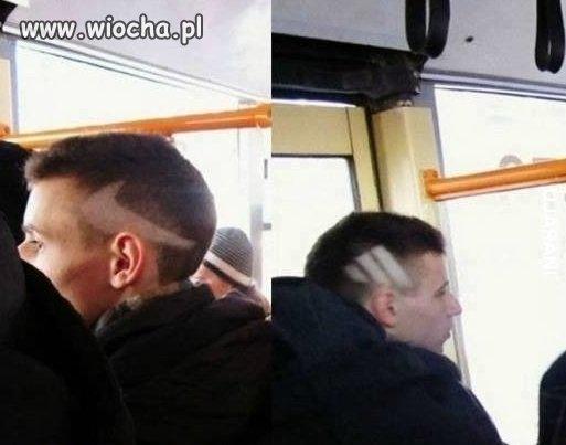 Sportowa fryzura