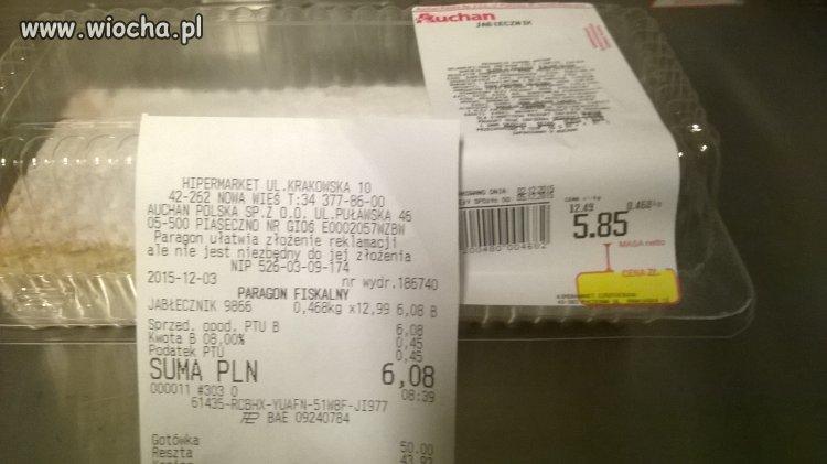 """Kasa ,,miła"""" w Auchan"""