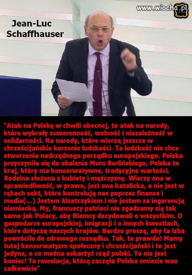Jedna z lepszych wypowiedzi w PE na temat Polski.