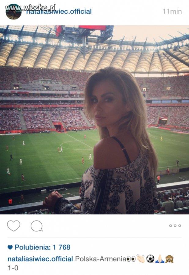 Natalka na meczu Polska-Gruzja