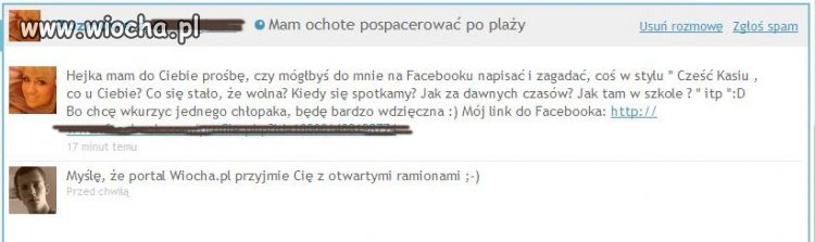 Facebook'owa m�cicielka