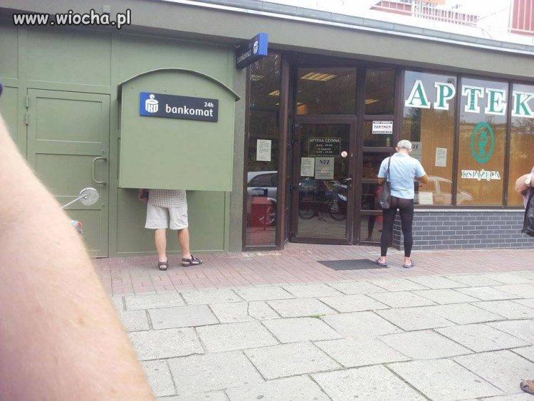 W pierwszym momencie myślałem, że chodzi o bankomat