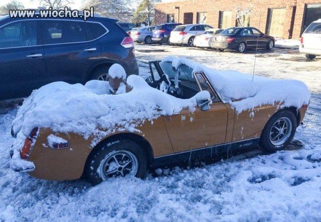 Uroki posiadania Kabrioleta w zimie