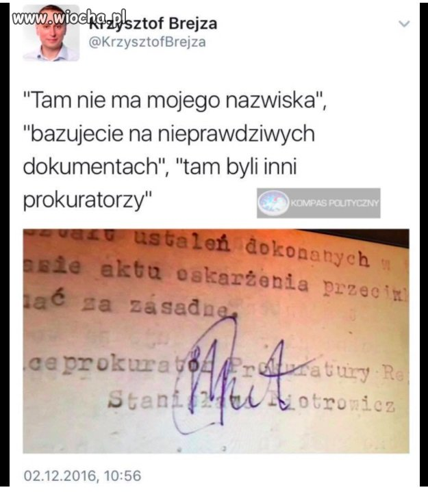 Sprawa się rypła tow. Piotrowicz