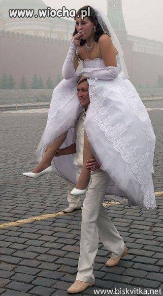 Zm�czony oblubienicy.
