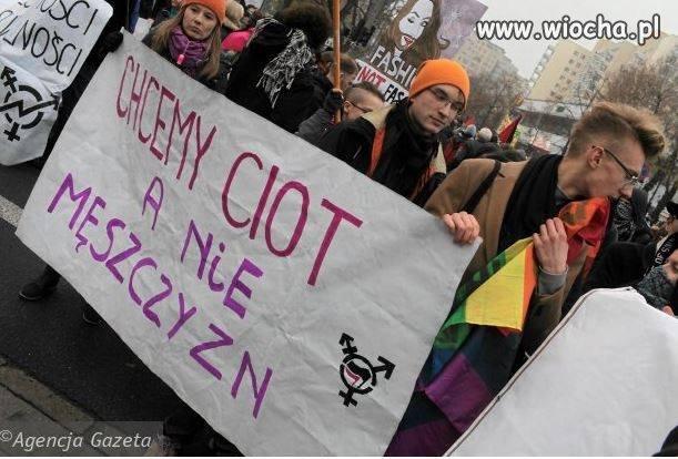"""Na marszy przeciw """"faszyzmowi"""""""