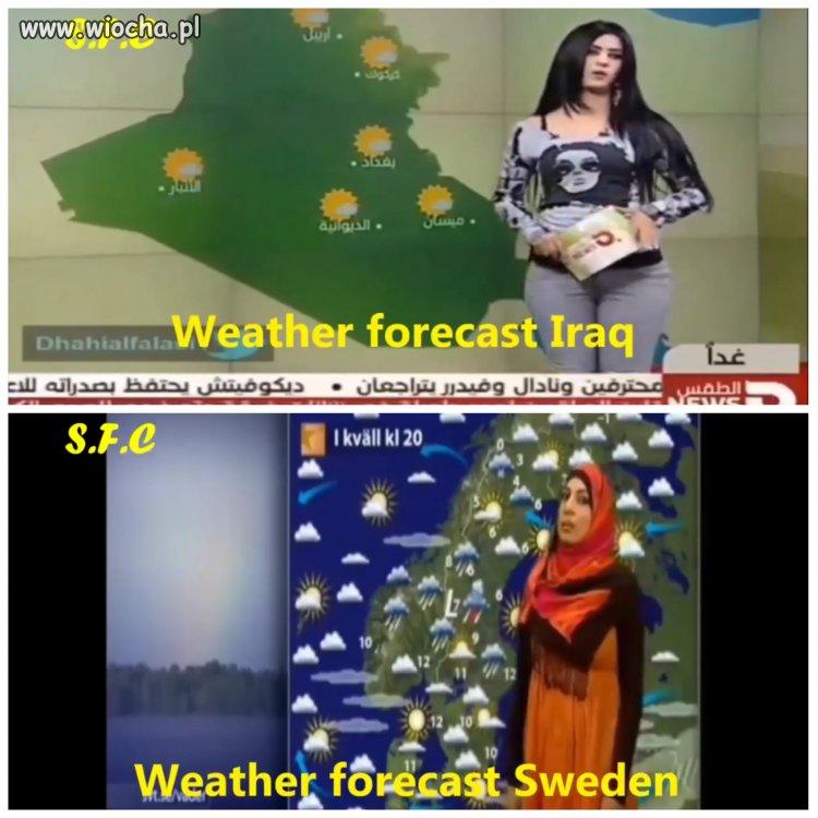 Pogodynka w Iraku vs. Szwecja