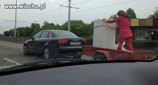 Transport lodówki