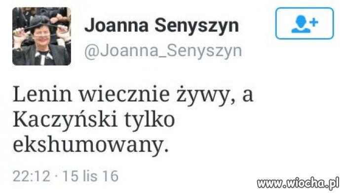 Joanna Senyszyn. Jerzy Urban w spódnicy.