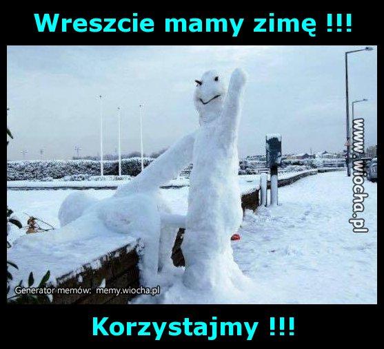 Wreszcie mamy zimę !!!