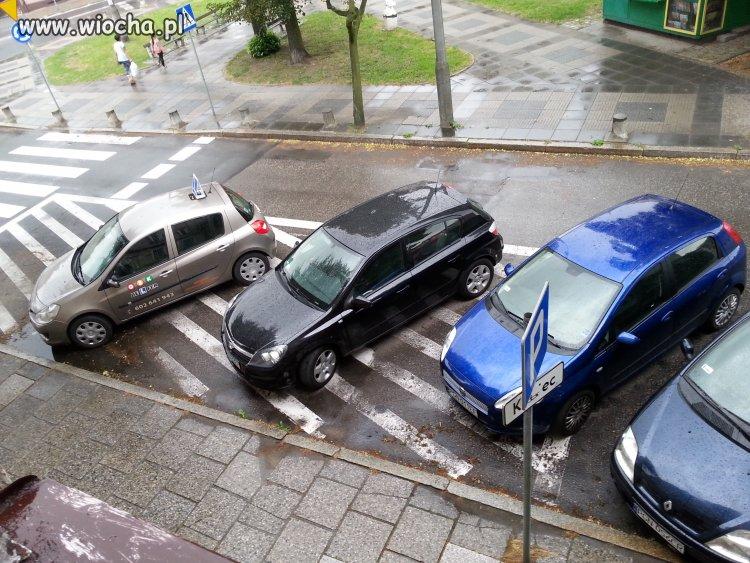 Nauka jazdy i przyklad parkowania