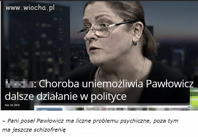 O pani poseł wydał opinię znany psychiatra