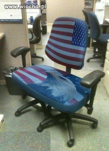 Fotel prawdziwego Amerykanina