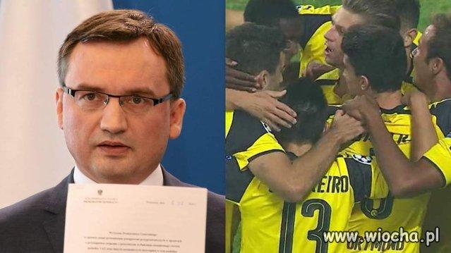 Ministrowie Błaszczak i Ziobro jadą do Dortmundu
