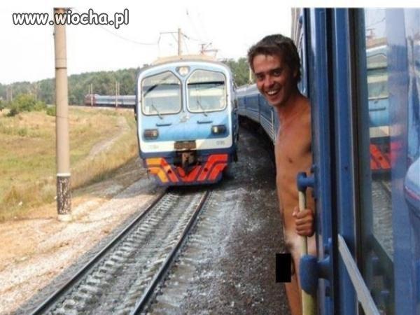 Mieli ludzie widoki z drugiego pociągu