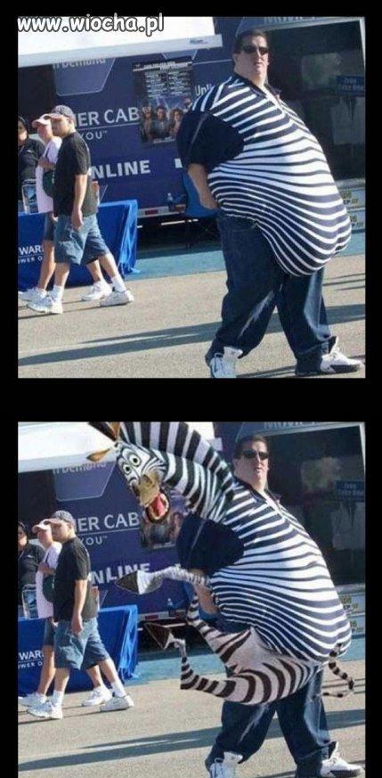 Człowiek zebra