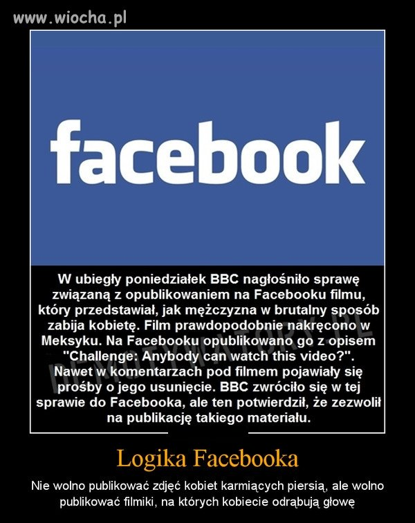 Hipokryzja Facebooka .