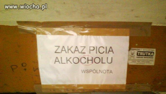 """ZAKAZ PICIA """"ALKOCHOLU"""""""