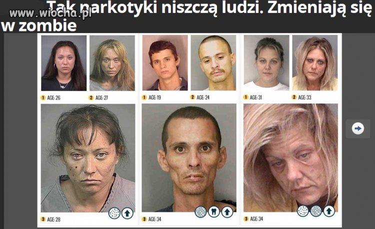Tak narkotyki szybk� niszcz� ludzi...