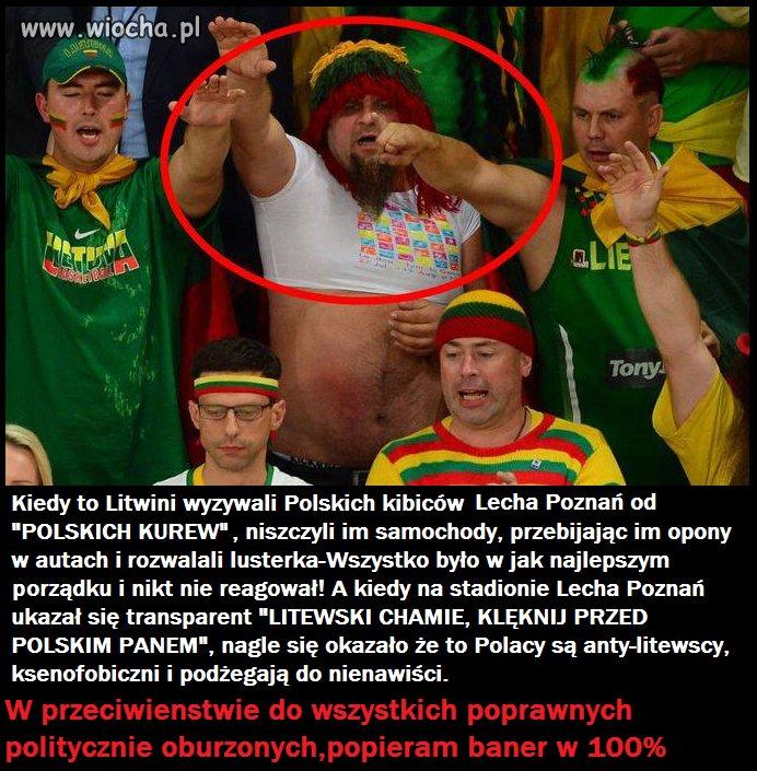 Kiedy to Litwini wyzywali Polskich kibiców
