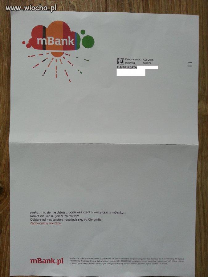 Oficjalne pismo z mBanku
