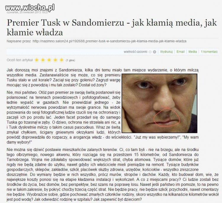 Premier Tusk w Sandomierzu
