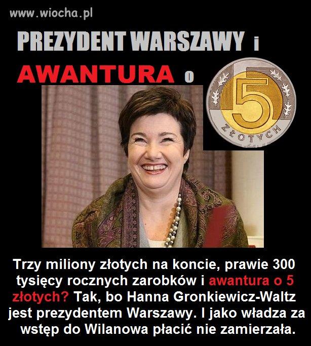 HGW i awantura o 5 zł.