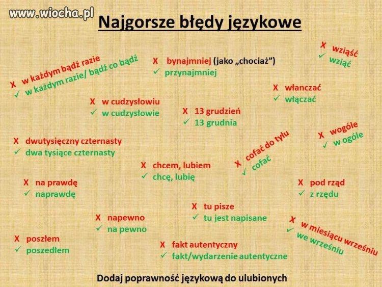 Najgorsze błędy językowe