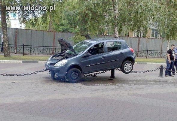 To trzeba mieć talent żeby tak zaparkować