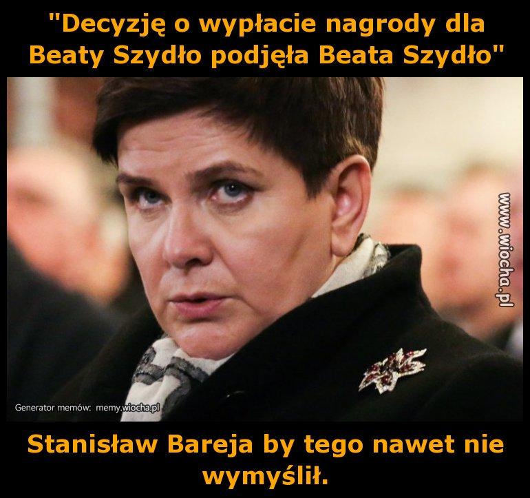 """""""Decyzję o wypłacie nagrody dla Beaty Szydło"""