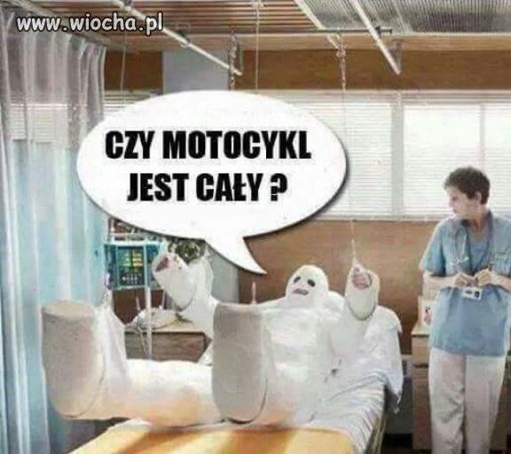 Największy problem motocyklisty po wypadku