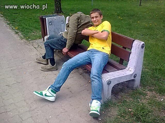 Fotka z bezdomnym