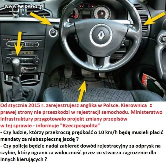 """Od stycznia rejestracja """"anglika"""" w Polsce."""