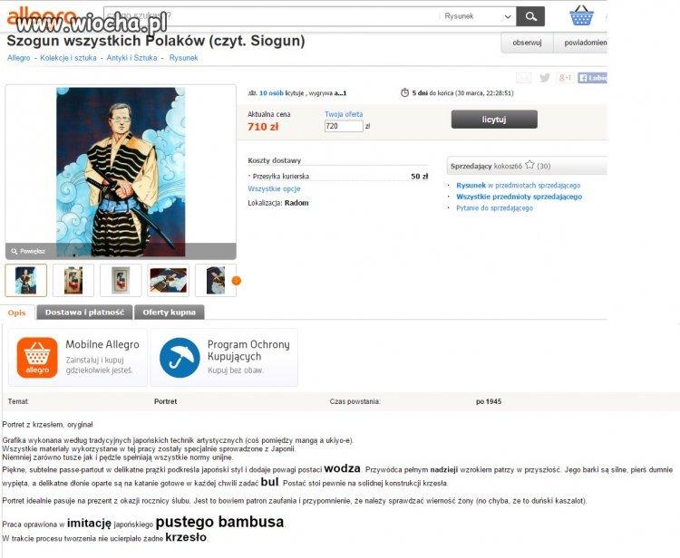 Unikatowa aukcja Sioguna!!!