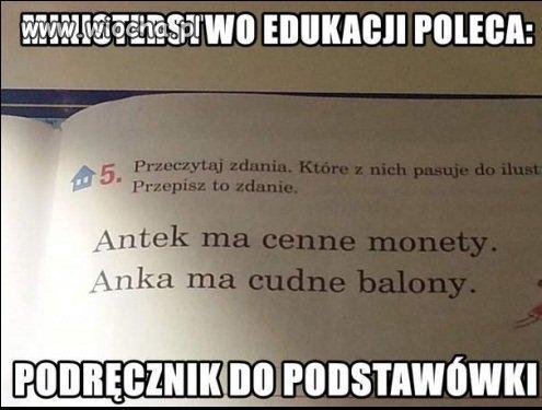 Ministerstwo edukacji poleca...