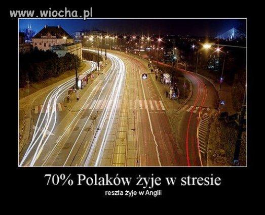 70% Polaków żyje w stresie...