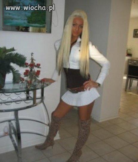 Blond skwarka i jej lans...