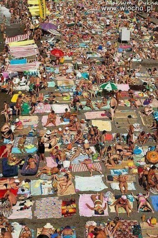 Tak kiedyś wyglądała Polska plaża...