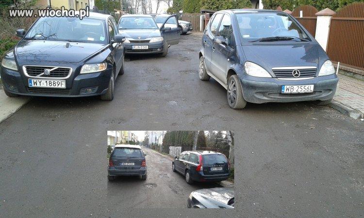 Mistrzowie parkowania Warszawa ul Szańcowa