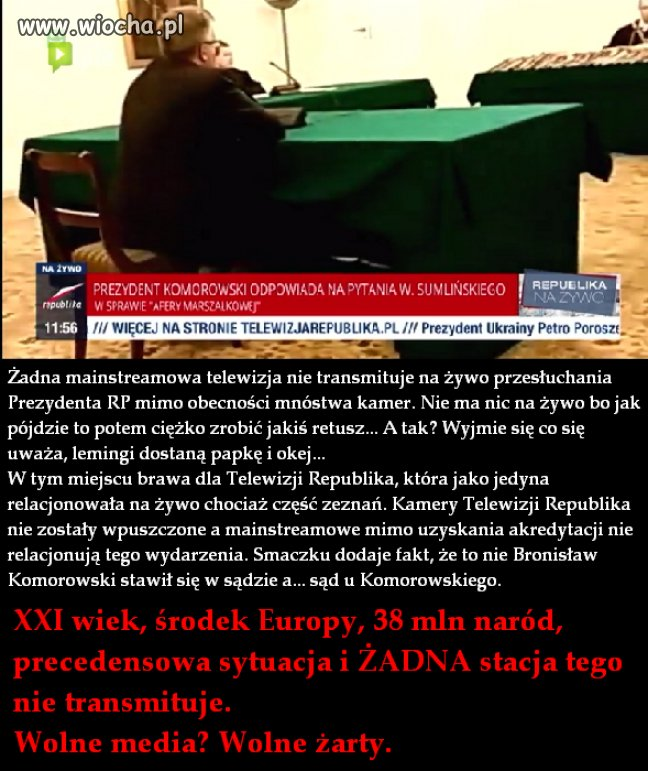 Wolna Polska, wolne media,