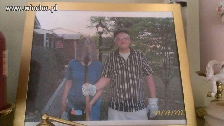 Z żoną w ogrodzie