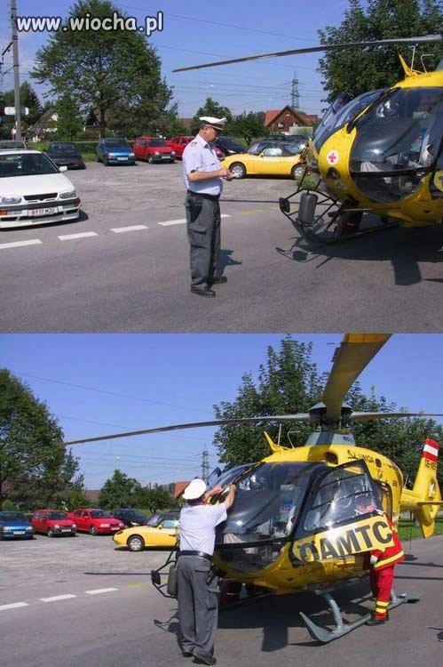 Co zrobić, jeśli helikopter.