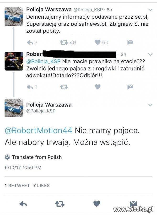 Polska policja - mistrzowie ciętej riposty